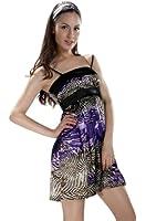 Samantha Look violettes Sommerkleid mit Tigermuster Polyester Kleid