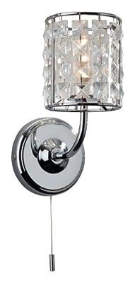 Firstlight Pearl Einzelne Wandleuchte mit Schalter G9 IP44 1 x 240 V/ 40 Watt verchromt mit Kristall von Firstlight - Lampenhans.de