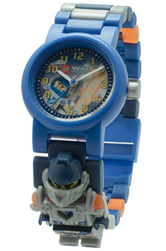 LEGO  Nexo Knights Clay Minifigure Link Childrens Quartz Watch with Multicolour Dial Analogue Display and Multicolour Plastic Bracelet 8020516