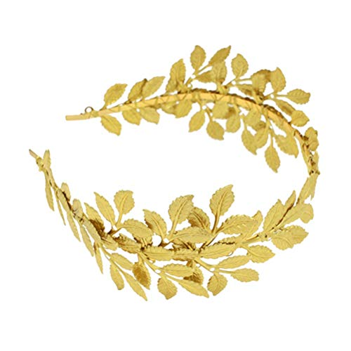 Lurrose Handgemachte goldene Göttin Blatt Stirnband Vintage Olive Leaf Braut Haarschmuck