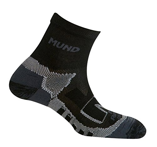 Mund Socks – Trail Running, Colore: Black/Grey, Taglia EU 42 – 45