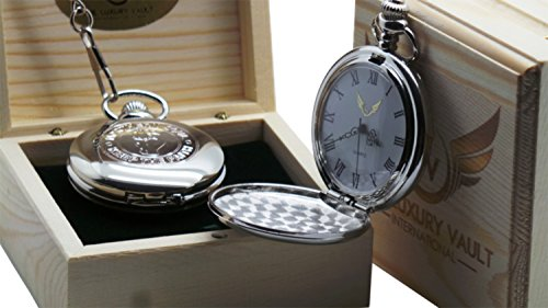 Northern Soul Silver Pocket Watch Full Hunter Case in Luxury Wooden Gift Box Wigan Casino Music