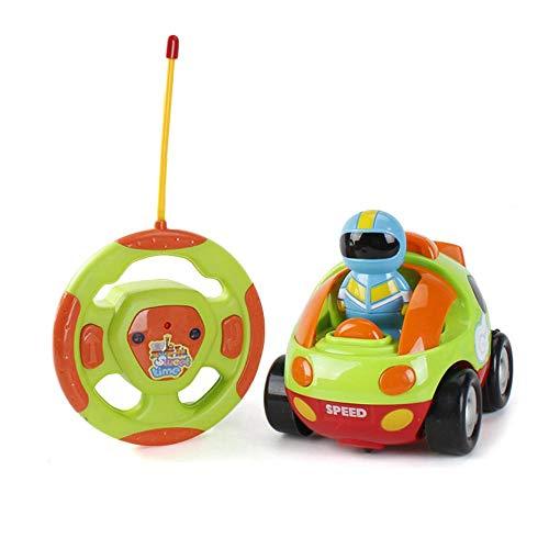 (Teepao Cartoon ferngesteuertes Polizei-Rennen Auto Zug Spielzeug für Kinder Geburtstag Geschenk, Fernbedienung mit Licht Musik Radio für Kleinkinder, Vorschuler, Baby Kinder, starker Widerstand gelb)