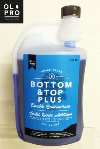 OLPRO Bottom & Top PLUS Two in One Toilet Fluid & Rinse - TWO BOTTLES