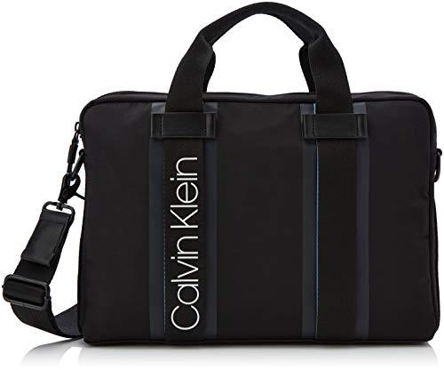 Calvin Klein - Clash Laptop Bag, Bolsas para portátil Hombre, Negro (Black), 5x38x26.5 cm (B x H T)