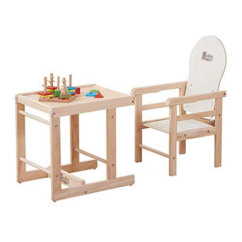 FMEZY Hochstuhl Baby Holz Kinder Esszimmerstuhl Abnehmbarer Essplatz Kind Essecke