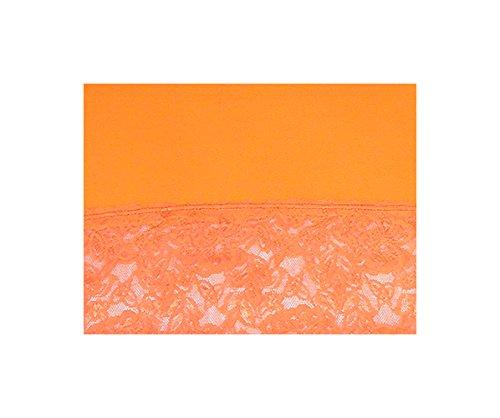 S&LU Elegantes langes Spitzen-Top in wunderschönen Farben Gr. 34-38 und Gr. 40-44 Orange