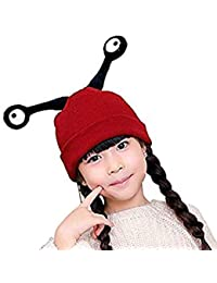 37fd2ffebda ITODA Bonnet d hiver en Tricot pour garçons et Filles - Antenne à Insectes  - Chaud - en Crochet Doux - Bonnet Coupe-Vent…
