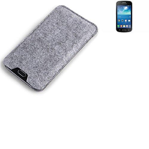 K-S-Trade per Samsung Galaxy Trend Plus Custodia Feltro per Cellulare Custodia Morbida Protettiva Sacchetto Protezione Manica Astuccio Copertina Grigio per Smartphone Samsung Galaxy Trend Plus