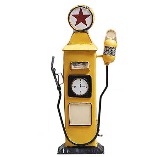 JUSTDOLIFE Banco De Dinero Forma De Gasolinera Vintage
