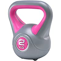 Costway Vinyl Kettlebell Colour Coded Weights Strength Training Fitness Workout Home Gym 2kg 4kg 6kg 8kg 10kg 18 kg 20kg and Set Combinations