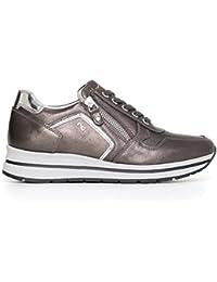Nero Giardini A719480D 101 Antracite Sneaker Donna con Zeppa Media Nuova  Collezione Autunno Inverno 2017 2018 cd6b3ab2d75