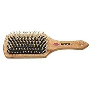 FACILLA® Peigne brosse à cheveux comb brush en bois anti-statique massage coiffure femmes