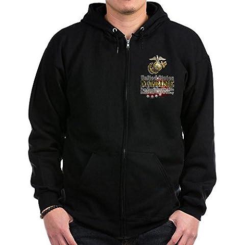 CafePress - US Marine: - Zip Hoodie, Classic Hooded Sweatshirt