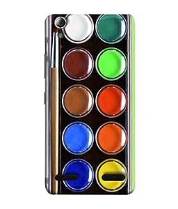 PrintVisa Colors Defining Life 3D Hard Polycarbonate Designer Back Case Cover for Lenovo A6000 Plus :: Lenovo A6000+ :: Lenovo A6000