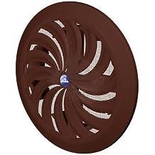 Rejilla de ventilación (Diámetro 100, 110, 120, 125, 150mm, redonda marrón cierre Plástico antinsectos 88Mosquitera Rejilla rejilla de ventilación zuluft Canalizado rejilla ventilación