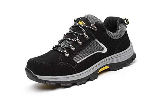 a74d652c Aizeroth-UK Unisex Hombre Mujer Zapatillas de Seguridad con Punta de Acero  Antideslizante Transpirable S3