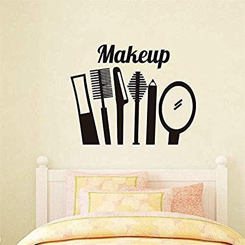 Wandaufkleber Augenbrauenstift Augenbrauenpinsel Spiegel Make-Up-Tool Geschnitzte Poster Make-Up Zimmer Schönheit Schaufenster Werbung Dekorative Wandaufkleber