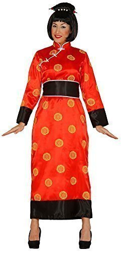Damen rote orientalisch, Chinesisch, Japanisch Kimono aus aller Welt Kostüm Kleid Outfit UK 14-16-18 (Kostüme Aus Aller Welt)