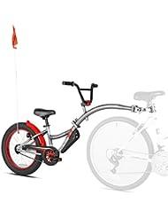 'Wee-Ride copiloto XT Deluxe–Neumático para bicicleta remolque, Unisex, gris