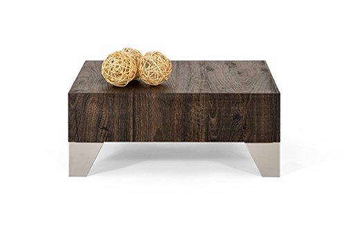 Mobilifiver Evolution 60 Table de Salon Bois Chêne Marron 60 x 60 x 24 cm