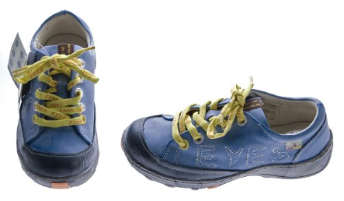 Leder Damen Halb Schuhe TMA Eyes Comfort Sneakers Used Look Sky Blau Schwarz Grün Turnschuhe echt Leder Sky Blau