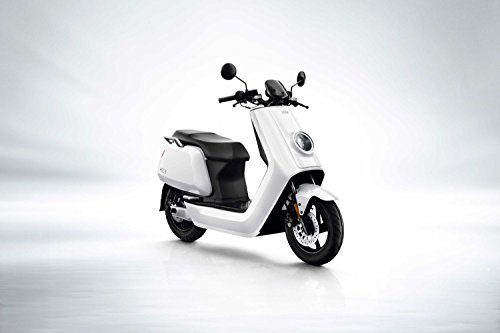 NIU n1s Scooter elettrico e scooter–Panasonic batteria agli ioni di litio–80km portata–BOSCH Motor–45km/H–a Due Posti//offerto von rollingbull® (Bianco)