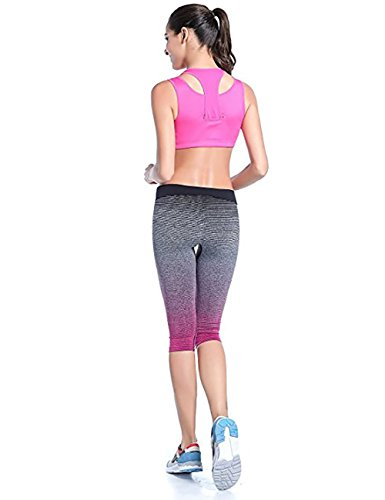 Fashionbabies - Leggings sportivi -  donna Rose Red