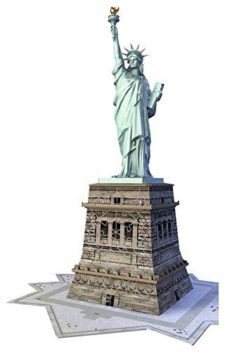 Ravensburger 12584 - Statua della Libertà Puzzle 3D Building da 108 Pezzi