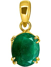 Accurate Traders Original Panna Stone Ashtadhatu Pendant 5 Ratti (4.6 carats) Rashi Ratna Natural and Certified by GEMOLOGICAL LABORATORY OF INDIA (GLI) Emerald Precious Asht Dhatu Locket Gemstone Unheated and Untreated Top Quality Gems for Astrological Purpose