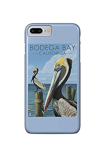 Bodega Bay, California - Brown Pellican (iPhone 7 Plus Cell Phone Case, Slim Barely There)