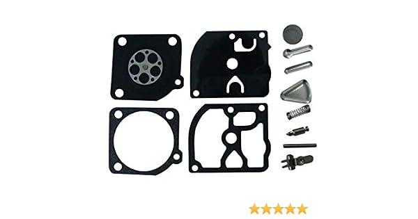 Carburateur R/éparation//Rebuild kit Remplace Zama Rb-72/pour Zama C1q Carburateur Dolmar Ps34//340/Stihl 019/Poulan Wood Shark 1900