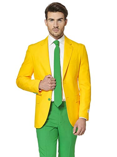 Generique - Opposuit Green and Gold für Herren (Suit Herren Jacket Green)