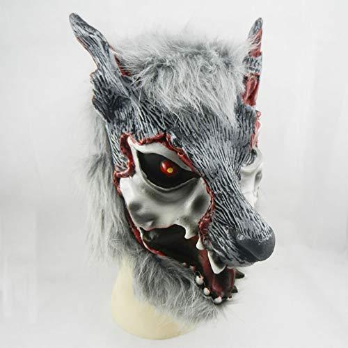 Bemalte Gesichter Kostüm - Hzonder Halloween Maske, Bemalte Gesicht Wolf Kopf Masken, KostüM Maske, Karneval, Weihnachten, Ostern, Silvesterparty
