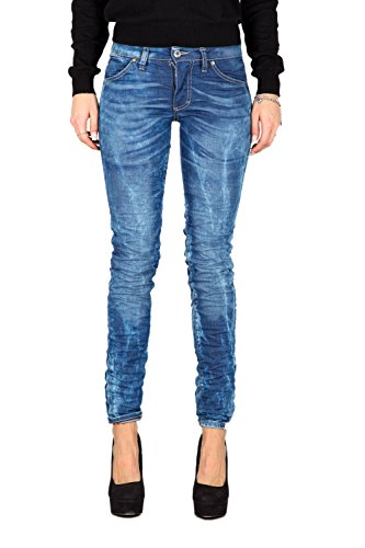 PLEASE - P95 jeans da donna stropicciato pantaloni slim xs denim