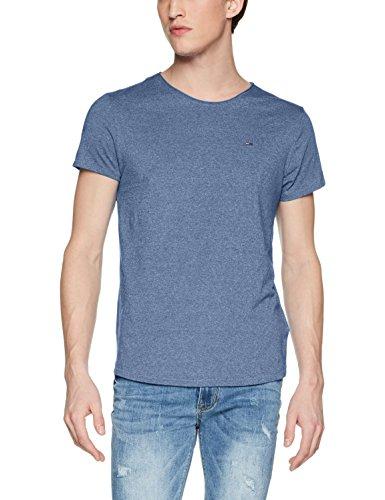 Tommy Jeans Herren T-Shirt TJM Basic CN Knit S/S 25, Blau (Blue Horizon 020), Medium
