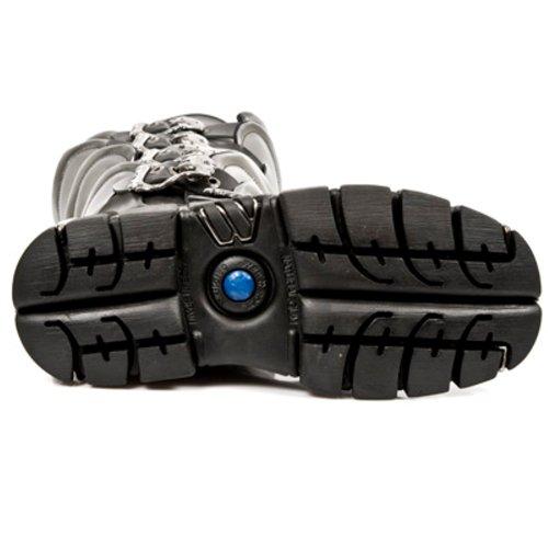 New Rock Boots Hommes Botte - Style 738 S1 Noir Noir