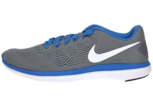 Nike Flex Run, Running Homme, 42 EU Gris (Cool Grey / White-Lyl Bl-Pht Bl)