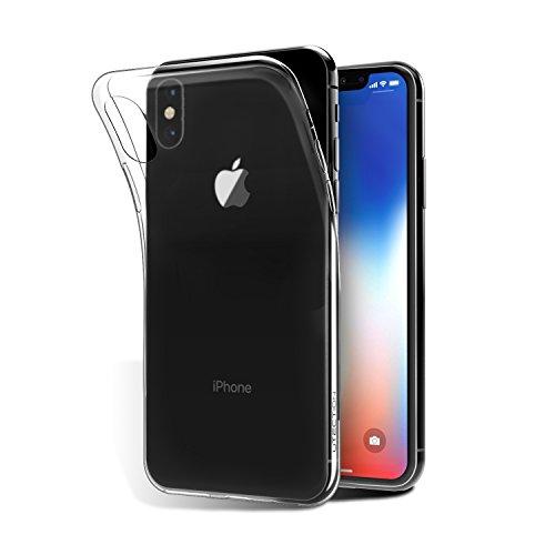 6 Armor Iphone Edge Tech (iPhone X Hülle Durchsichtig aus TPU ** Schutzhülle ist Qi-Kompatibel ** Ultra-Slim & Leicht - Ideale Passform ** Silikonhülle Case für Apple iPhone X Slimcase Transparent by UTECTION)