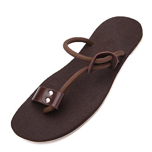 SHANGXIAN Chaussures Bureau extérieur & Nappa occasionnel travail carrière & devoir athlétique robe en cuir tongs noir / marron Brown