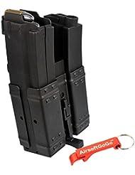 250rds Dual Cargador para Marui Std ICS CYMA MP5 MP5K MP5SD6 Airsoft AEG - AirsoftGoGo Llavero Incluido