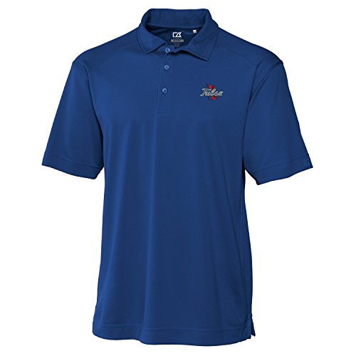 Cutter & Buck Herren Poloshirt CB Drytec Genre, Herren, NCAA Men's Genre Polo Tee, Tour Blue, S (Jacquard-polo-tee)