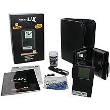 smartLAB mini (mg / dL) Sistema de monitoreo de glucosa en sangre como juego de arranque   Sistema de control de glucosa en la sangre en formato de tarjeta de crédito ideal para viajar   Monitoreo de la glucemia para diabéticos con smartLAB