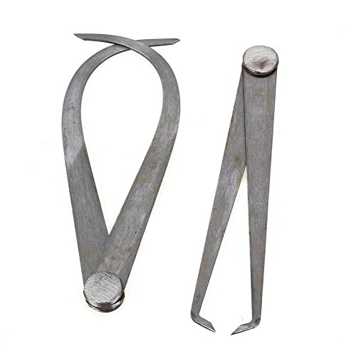 Yibuy 2x Innen Außen Präzisions Messschieber 150mm Länge Messen Metallverarbeitung Tools