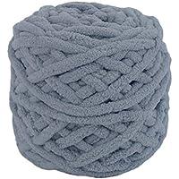 Wafalano Dark Grey DIY Scarf Sweater Towel Coat Thick Yarn 95g 7mm Diameter Knitting Chunky Towelling Yarn Ball