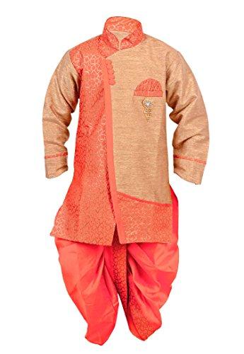Arshia Fashions Boys Dhoti Kurta set ethnic wear for boys - Pink