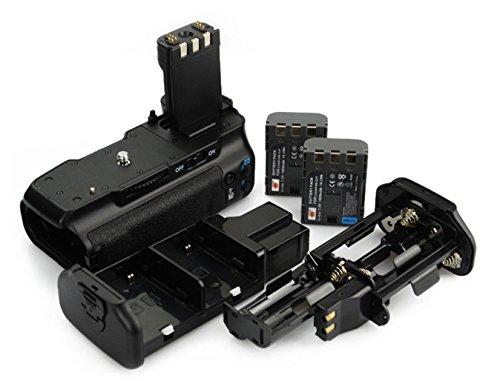 DSTE® Batterie Griff für Canon EOS 350D 400D SLR Digital Kamera als MB-D16 mit (2 packung) NB-2LH