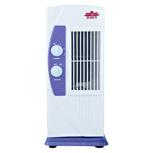 BMS Lifestyle TF-104 Portable Mini Tower Fan with 90 Degree Rotating & Revolving Base (Colour May Vary) 2 Blade Tower Fan
