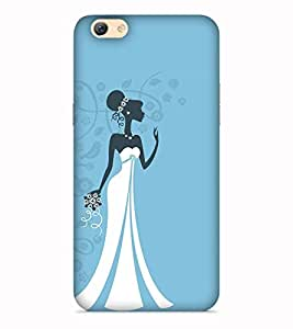Printvisa Bride Women Marriage Lady Black Designer Hard Back Case For Vivo Y55s