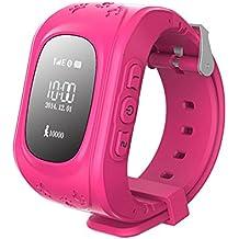 SinoPro Q50 niños inteligentes reloj de los niños reloj de pulsera con anti-perdida GPS Tracker SOS llamada localización de localización de control remoto del monitor funciones del podómetro Control de los padres Por el iPhone y Android Smartphones